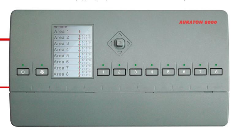 Бездротовий програматор AURATON 8000 8-ми канальний для теплих підлог і ГВС