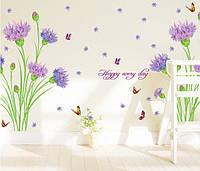 """Наклейка на стену, наклейки на шкаф """"Гвоздики наклейки 9 цветков""""  100*145см (лист 60*90см)"""