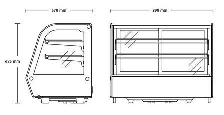 Холодильная витрина RTW 160 Scan , фото 2