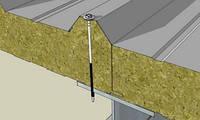 Сендвич-панели с наполнителем из минеральной ваты 100 мм