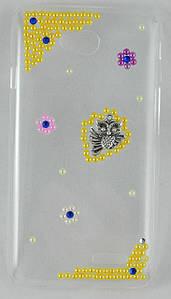 """Чехол накладка на LG L70 Dual D325, D320, ручной работы """"Совушка"""""""