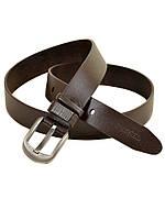 Мужской кожаный ремень под джинсы Diesel (27740-2) 3.5 см коричневый 801fbd3665d24