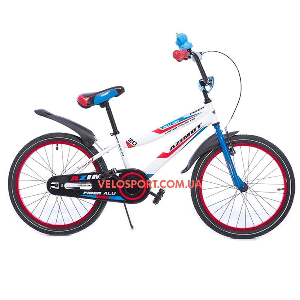 Детский велосипед Azimut Fiber 20 дюймов бело-голубой