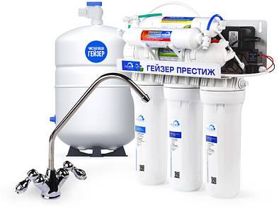 Гейзер Престиж ПМ фильтр обратного осмоса с минерализатором и помпой