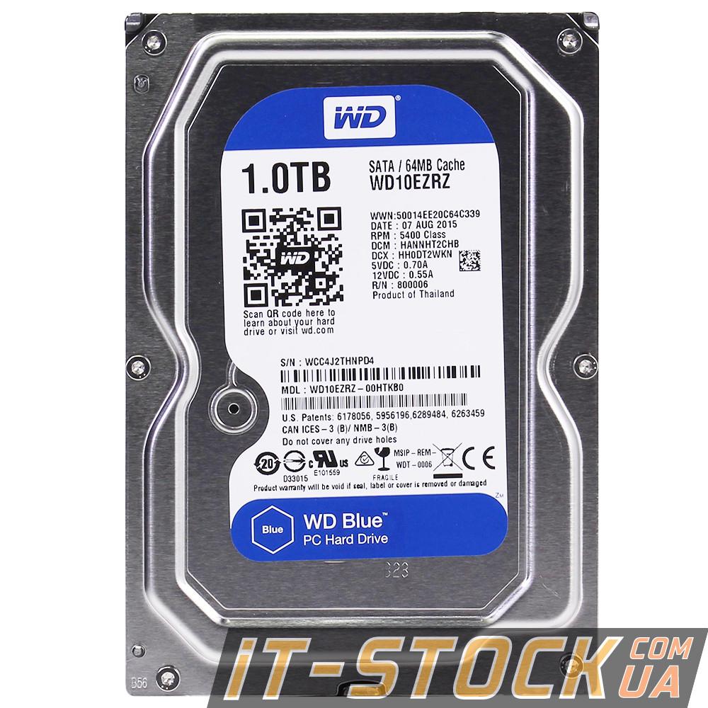 "Жесткий диск 3.5"" 1Tb WD WD10EZEX (64Mb/7200/SATAIII) blue"