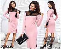 Платье стильное с гипюром в расцветках 2144, фото 1
