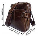 Наплечная сумка кожаная мессенджер 6012, фото 2