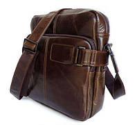 Наплечная сумка кожаная мессенджер 6012, фото 1