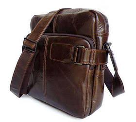 Наплечная сумка кожаная мессенджер 6012