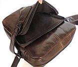 Наплечная сумка кожаная мессенджер 6012, фото 7