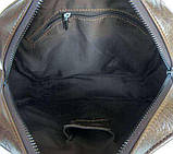 Наплечная сумка кожаная мессенджер 6012, фото 8