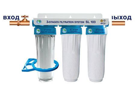 "Система 3-х ступенчатой очистки Bio+ systems SL103 1/2"", фото 2"