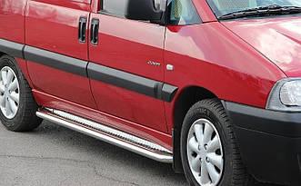 Пороги боковые Citroen Jumpy 1995-2007 /длинн.база /Ø50