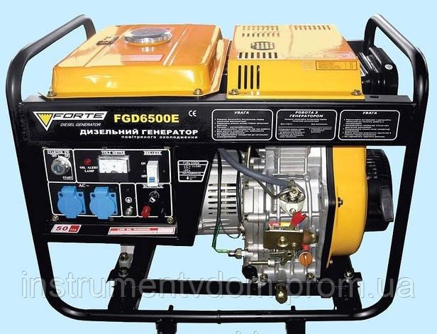 Дизельгенератор FORTE FGD6500E (4,5 кВт)