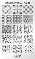 Мини пластина для стемпинга Konad Square Image Plate 20