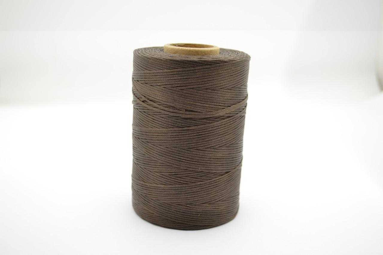 Нитка вощеная плоская 500м толщина 1mm цв.коричневый