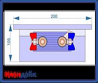 Внутрипольный конвектор Radopol KV 10 200*5000, фото 1