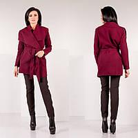 Пальто кашемировое Размер: 44, 46, 48, 50 цвет: вишневый. розовый. белый. черный. пудра