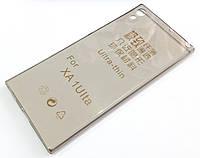 Чохол для Sony Xperia XA1 Ultra g3212, g3223, g3221, g3226 силіконовий ультратонкий прозорий сірий