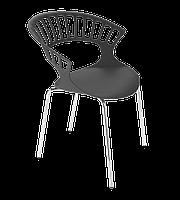 Кресло Papatya Tiara белый, антрацит база катафорез, фото 1