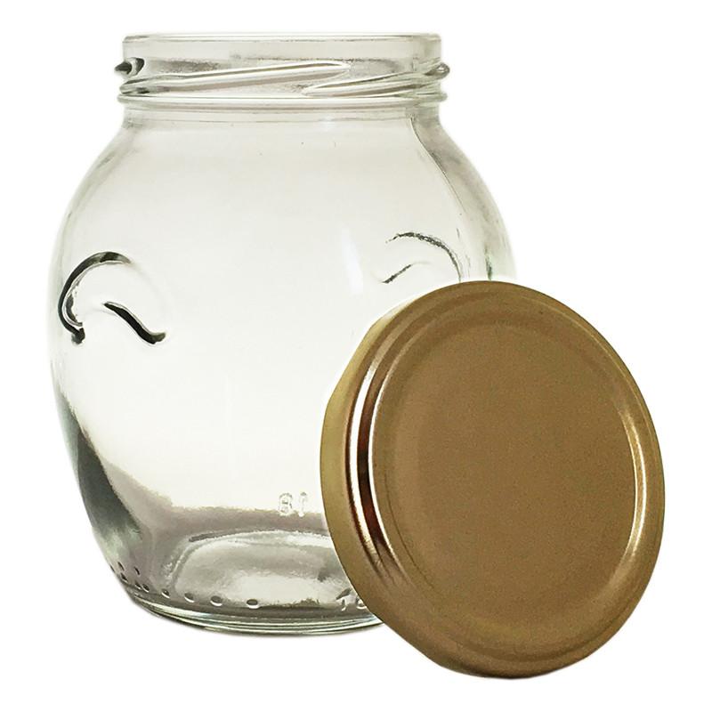 Банка стеклянная  395 мл./66 с металлической крышкой для консервации