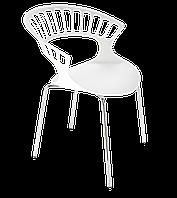 Крісло Papatya Tiara білий, база хром, фото 1