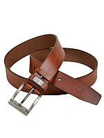 Мужской кожаный ремень под джинсы Diesel (89718-2) 4 см коричневый
