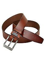 Мужской кожаный ремень под джинсы Diesel (57818-2) 4 см коричневый