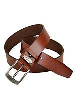Мужской кожаный ремень под джинсы Diesel (56028-2) 4 см коричневый