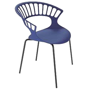 Кресло Papatya Tiara пурпурный, антрацит база катафорез