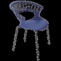Кресло Papatya Tiara пурпурный, антрацит база катафорез, фото 1