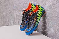 Футбольные Бутсы Nike Mercurial CR7(черно-синие) 1000(реплика), фото 1