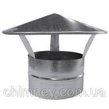Дымоходный зонт 100мм толщина 0,5 мм/304