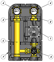 Насосная группа, смесительный контур с термостат. клапаном, Barberi (Italy), цена, купить в Киеве