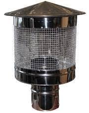 Димохідний іскрогасник 160 мм товщина 0,5 мм/304