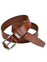 Мужской кожаный ремень под джинсы Diesel (77028-2) 4 см коричневый