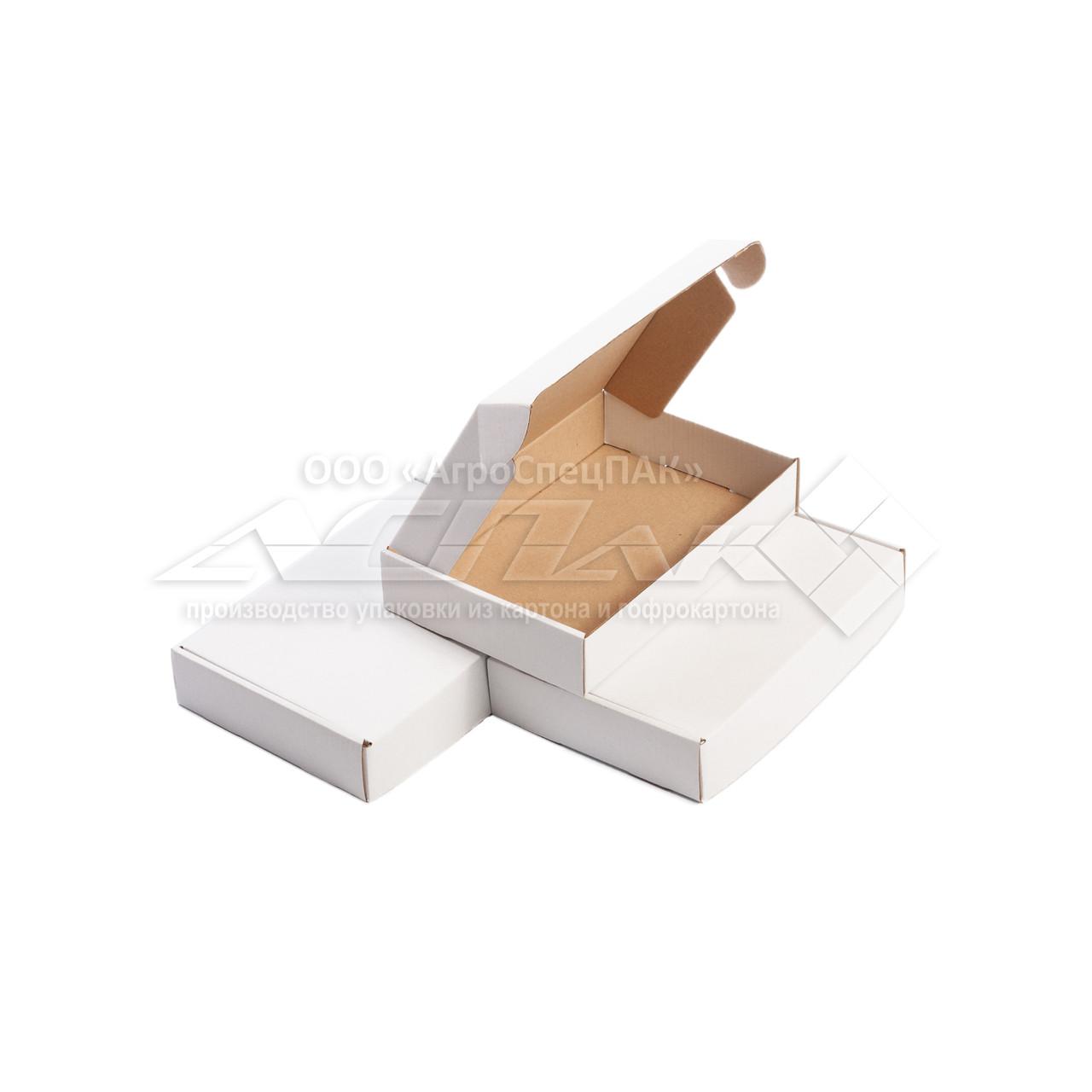 Картонные коробки самосборные 215х145х40, белые