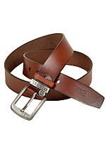 Мужской кожаный ремень под джинсы Diesel (96528-2) 4 см коричневый