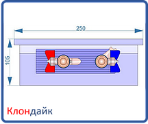 Внутрипольный конвектор Radopol KV 10 300*1000