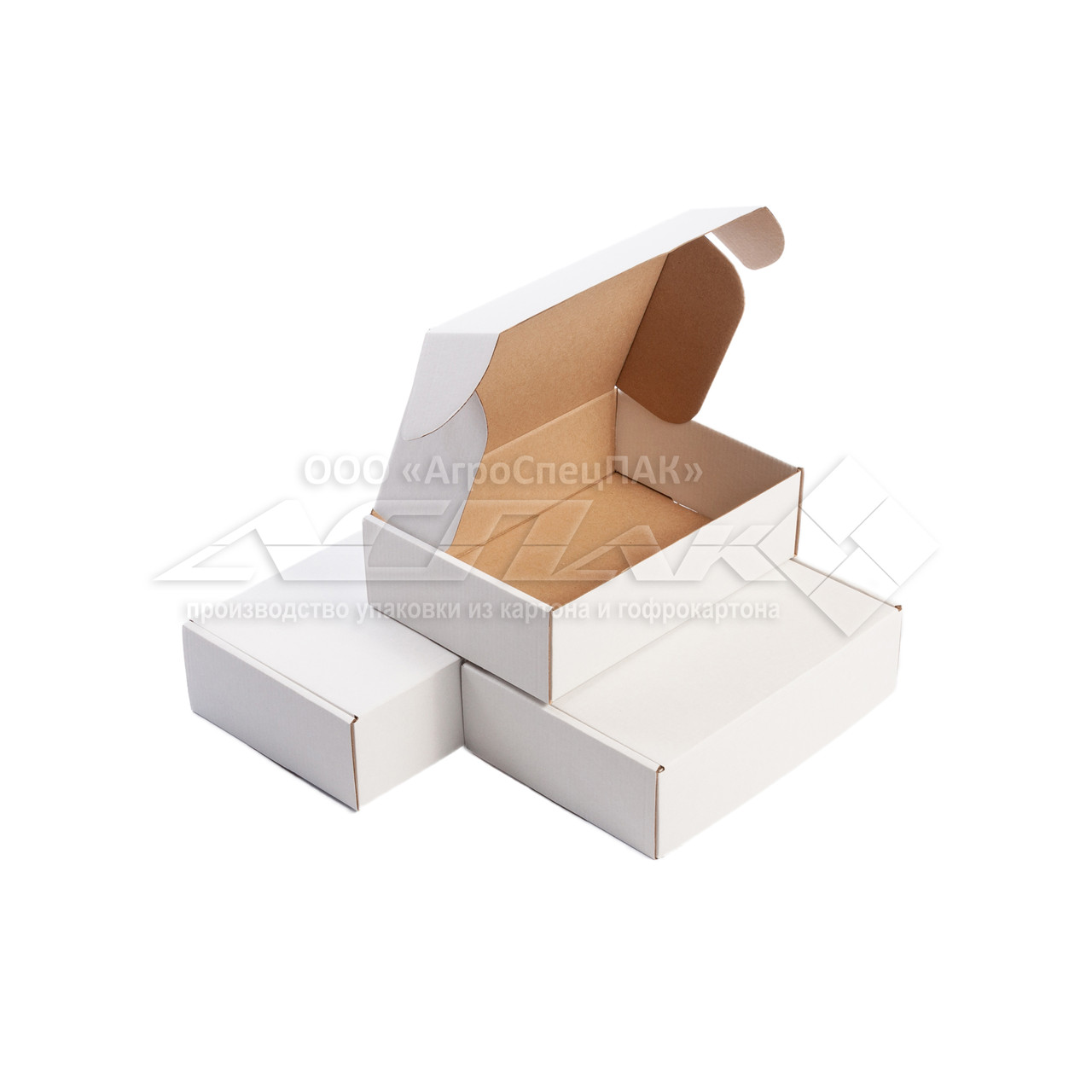 Картонные коробки 220*155*65 белые