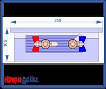 Внутрипольный конвектор Radopol KV 10 300*1250