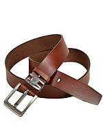 Мужской кожаный ремень под джинсы Diesel (223-2) 4 см коричневый