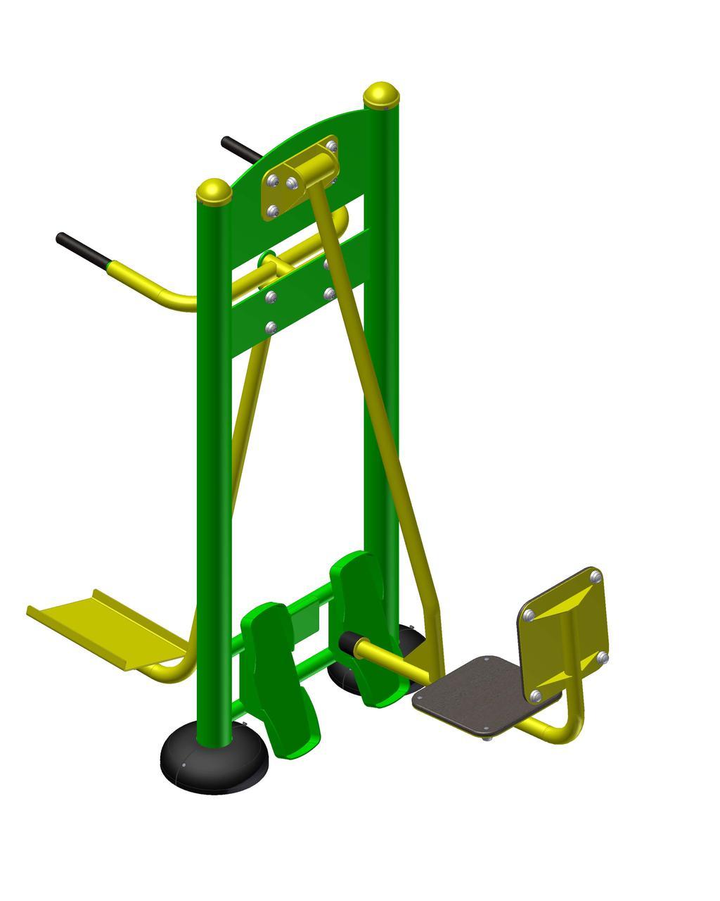 Уличный тренажер «Жим ногами + маятник»