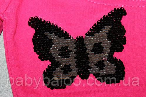 Штаны для девочки пайетки перевёртыши (от 5 до 8 лет) , фото 2
