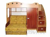 Детская двухъярусная кровать чердак с диваном Каспер-2, Даниро