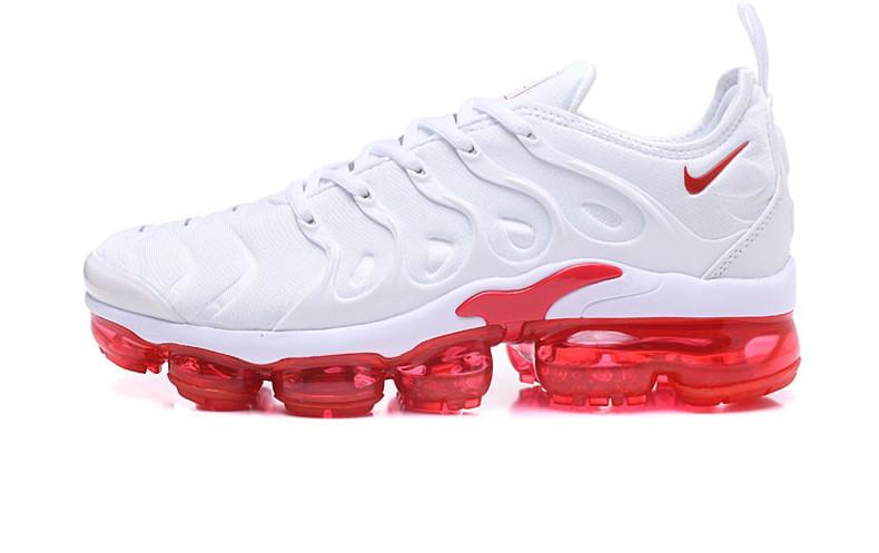 Мужские кроссовки Nike Air Max Tn Vapormax Plus White Red (Реплика ААА  класса) 143911683bb