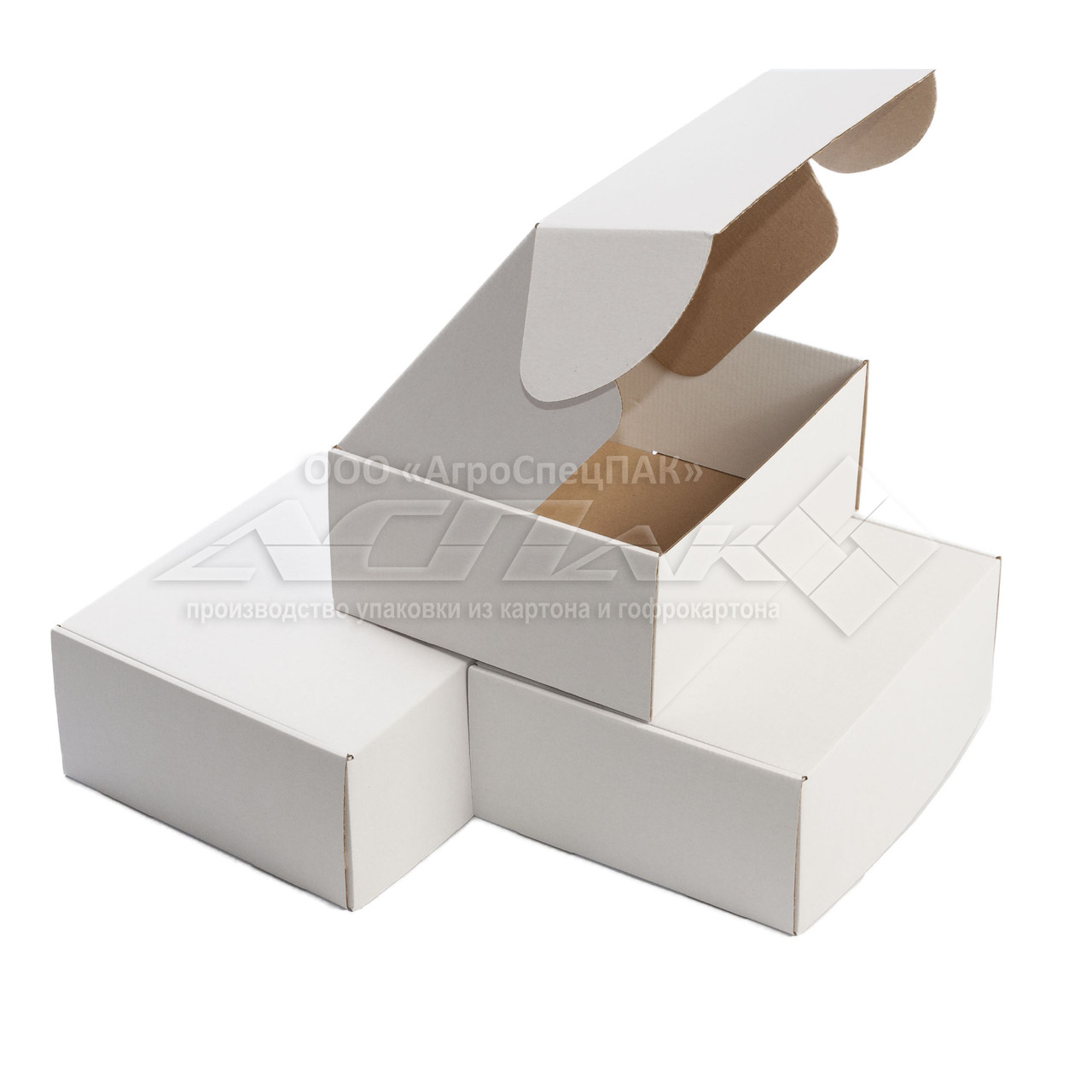 Картонная коробка 270х220х110 белая