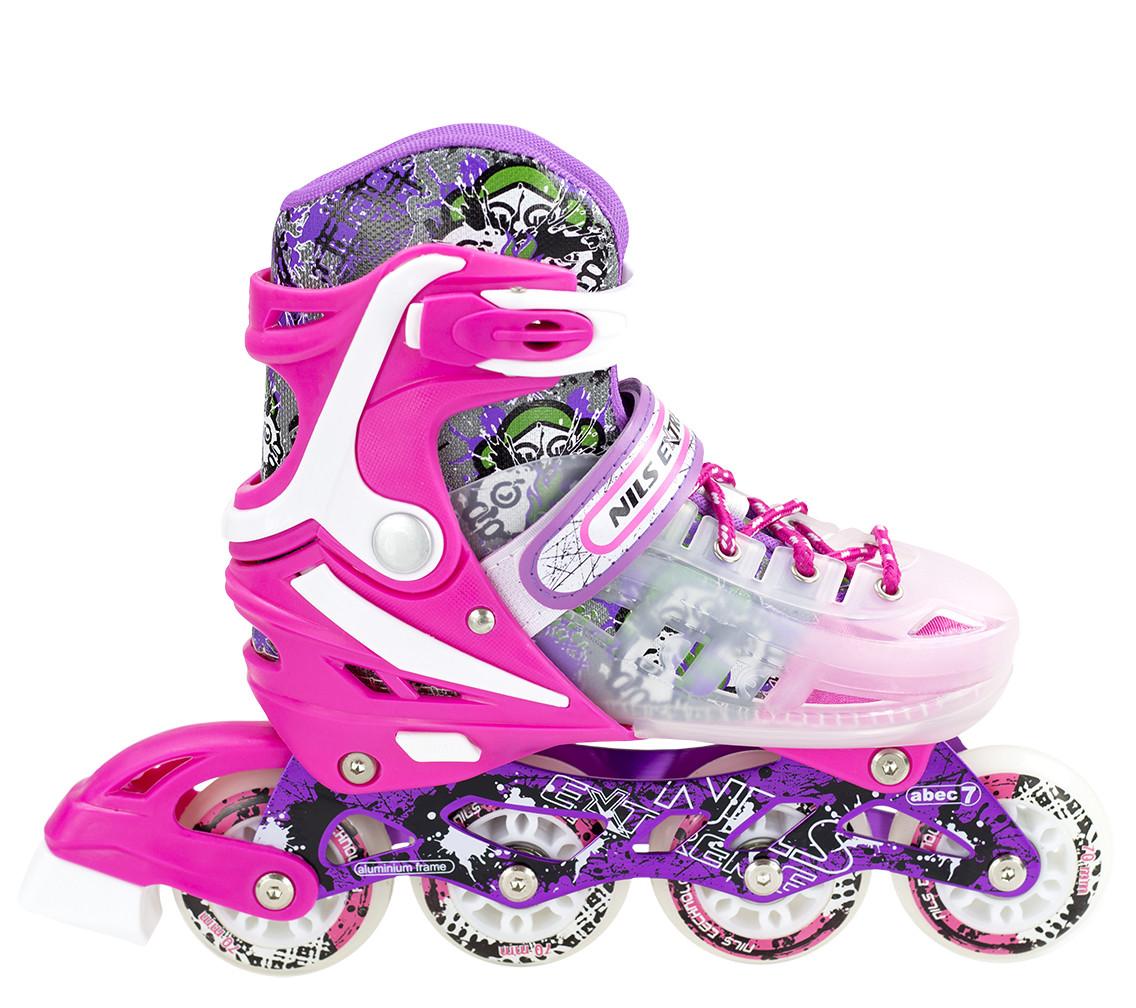 Роликовые коньки Nils Extreme NJ1812A Size 34-38 Pink