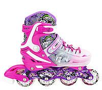 Роликовые коньки Nils Extreme NJ1812A Size 34-38 Pink, фото 1