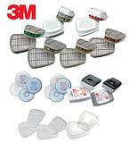 Защитная полумаска 3M 7500. Средство защиты органов дыхания, респиратор 7501, 7502, 7503, фото 3